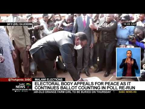 Malawi Elections | Electoral Body Appeals For Peace As It Continues Ballot Counting In Poll Re-run