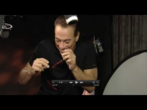 Jean-Claude Van Damme Interview (featuring the Kickboxer dance) -- The Expendables 2
