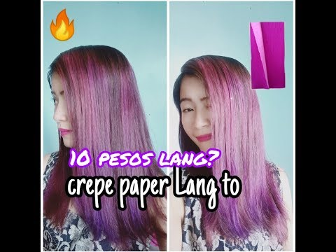 CHEAPEST HAIR COLOR| Crepe Paper Hair Color