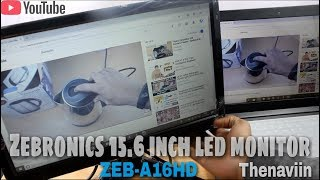 Zebronics 15 6 inch Led Monitor Unboxing And Review budget led Monitor under 4000 Thenaviin