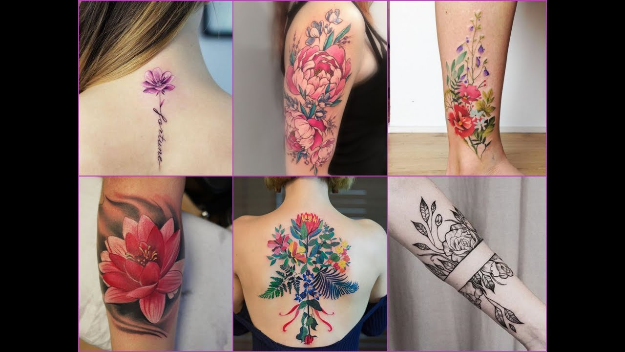 484a7a051 50+ Gorgeous Floral Tattoos Designs For Womens - YouTube