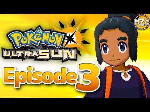 Iki Town Festival! Battling Hau! - Pokemon Ultra Sun and Moon Gameplay - Episode 3
