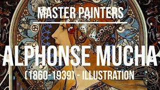 Alphonse Maria Mucha Illustration (1860-1939) 4K Ultra HD .mp4