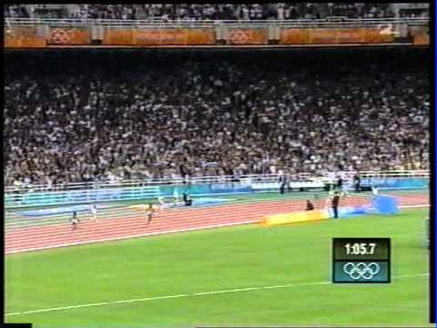 Womens 4x400m final Athens Summer Olympics 2004