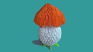 Модульное оригами гриб видео урок-схема, пошаговая инструкция