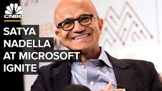 Microsoft Ignite: Satya Nadella, Bill McDermott, And Shantanu Narayen thumbnail