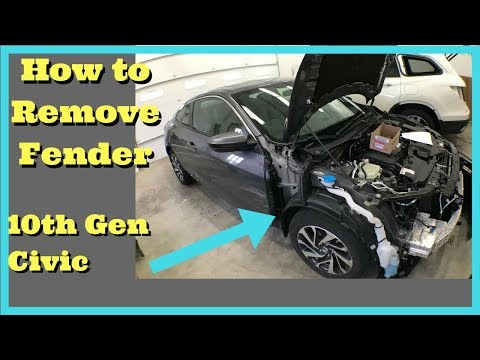 2016 2017 2018 Honda Civic Fender Removal How to Remove Fender Replace Install 10th gen x