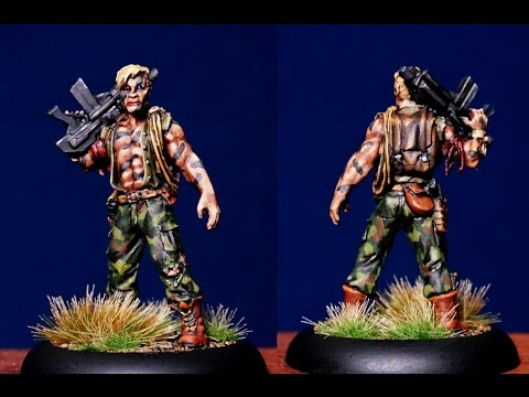 Painting Reaper Hans Post Apocalypse Survivor