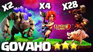 How to GoVaHo - TH10 Attack Strategy for 3 Stars | Th10 GoVaHo | Th10 Best GoHoBo clash of clans