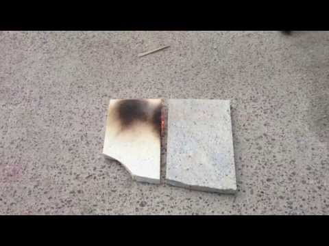 Granite Vs Quarts Heat Fire Test You