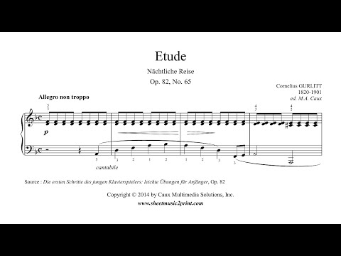 Gurlitt : Etude Op. 82, No. 65 - Nächtliche Reise