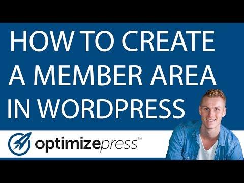 Create A Restricted Member Area | OptimizePress Tutorial