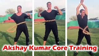 Watch Akshay Kumar Taking Core Training For 8 Pack Abs