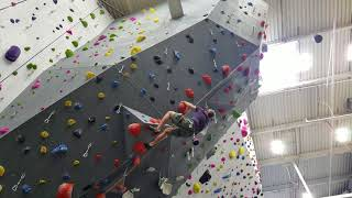 Jack Climbing 5'10b Lead @ EarthTreks Columbia Jan 18