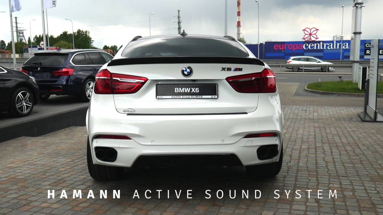 bmw x6 m50d f16 with hamann active sound exhaust system. Black Bedroom Furniture Sets. Home Design Ideas