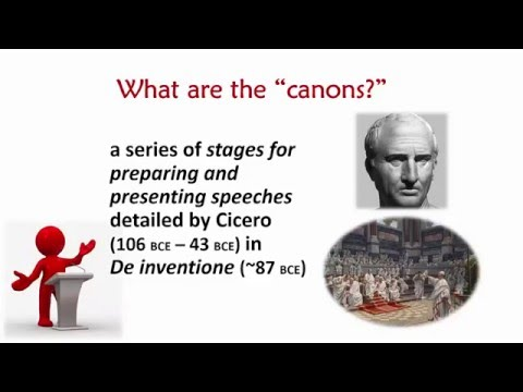 The Canons of Rhetoric and Public Speaking