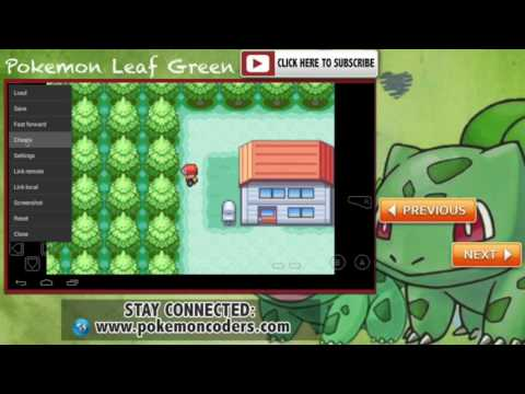 Pokemon Leaf Green Walk Through Walls (Ghost) Gameshark Code Cheat