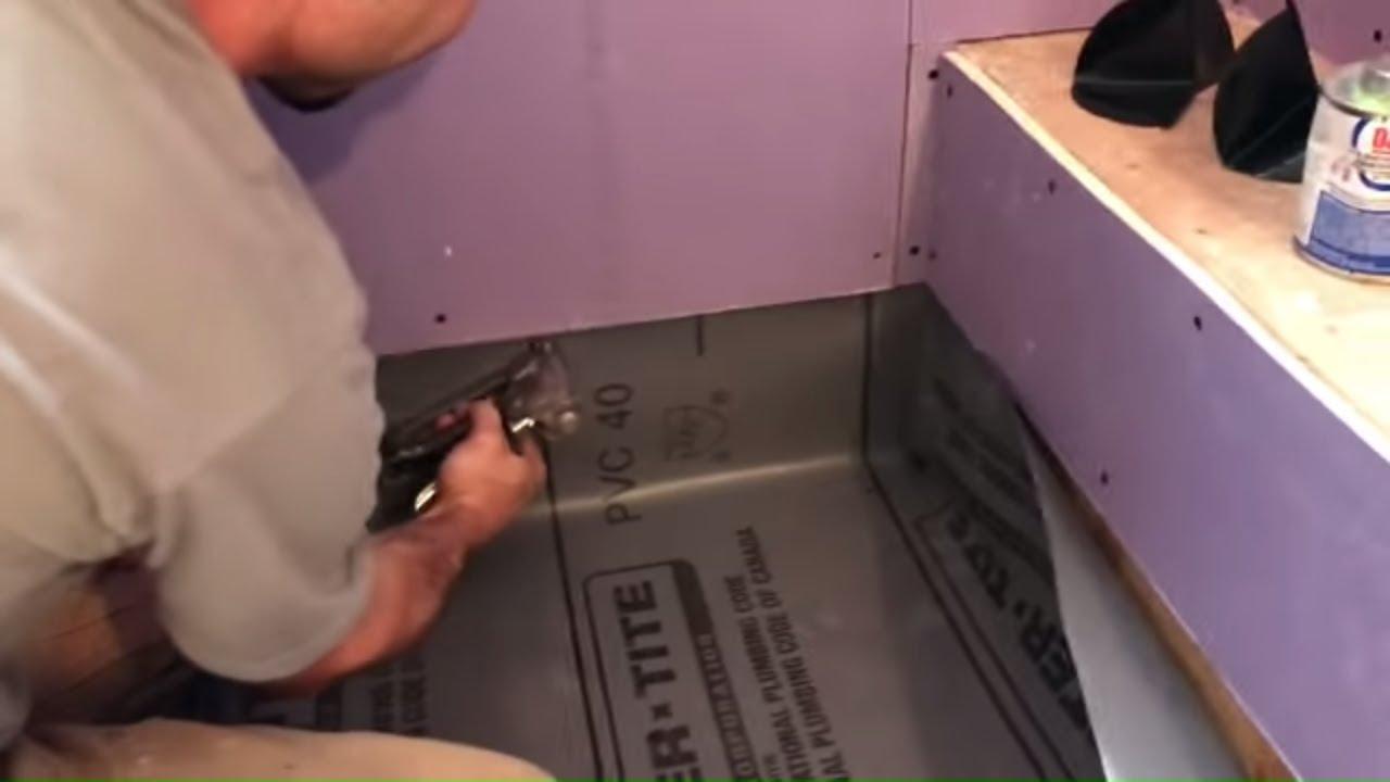 easy shower pan liner tile coach episode 9