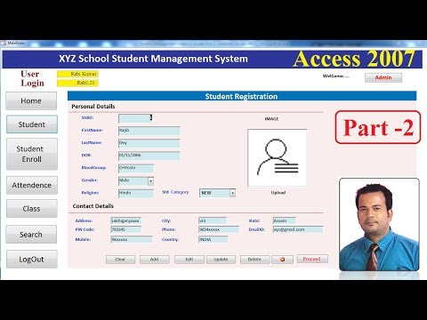 Student Management System In Access 2007 Part 2- User Login, Main Form