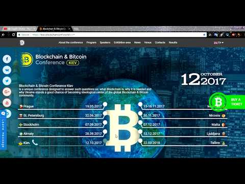 Blockchain And Bitcoin Conference Kiev Ukraine. 12th October, 2017