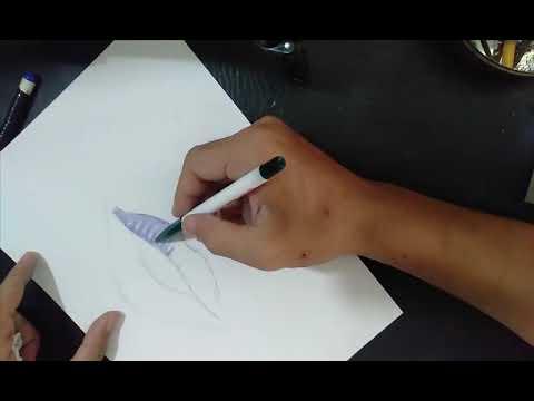 vẽ môi  chín mộng bằng bút bi phần 1