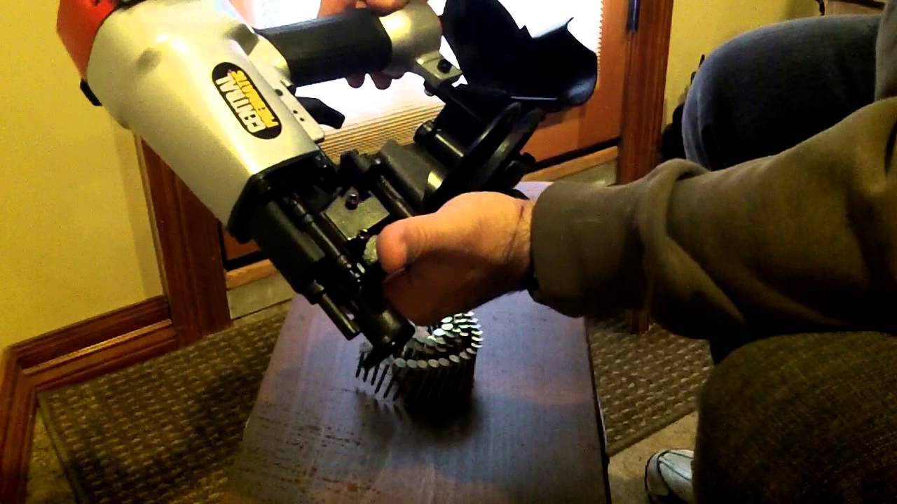 Harbor Freight Roofing Nailer   YouTube