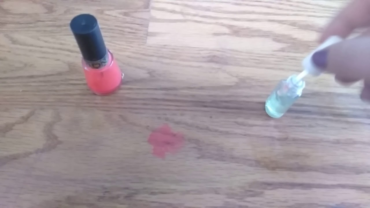 how to remove nail polish from wood floor youtube. Black Bedroom Furniture Sets. Home Design Ideas