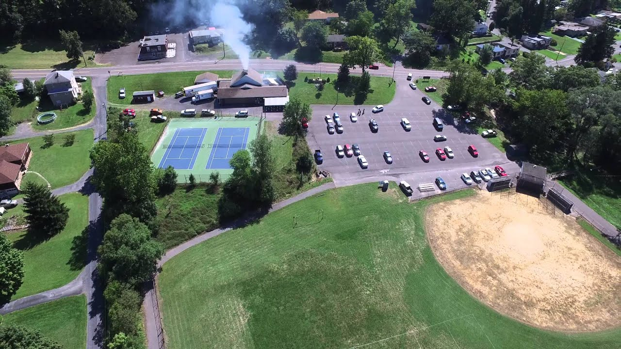 dji inspire 1 drone at the lavale lions chicken bbq lavale