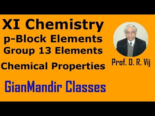 XI Chemistry | p-Block Elements | Chemical Properties of Group-13 Elements by Ruchi Mam