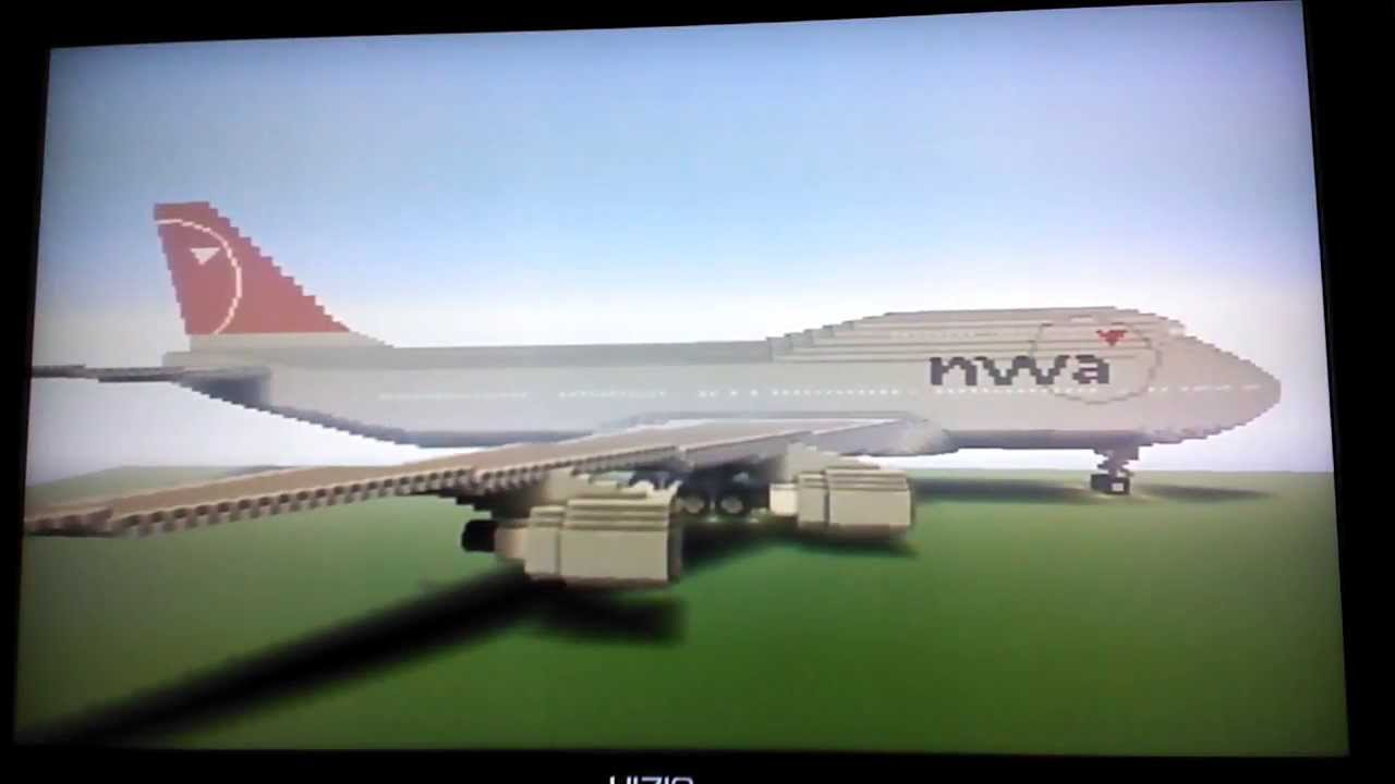 Minecraft Boeing 747 400 Northwest Airlines Youtube
