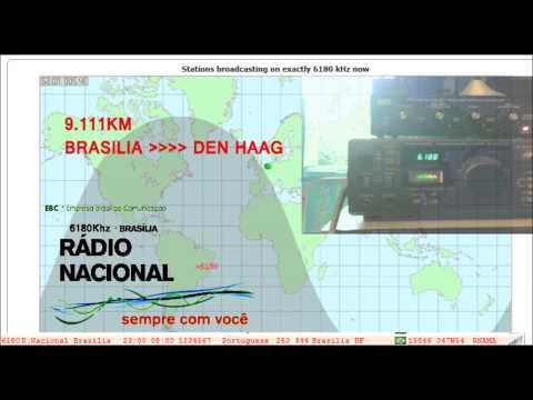Shortwave 6180Khz - Radio Nacional Brasilia (reception in The Hague)