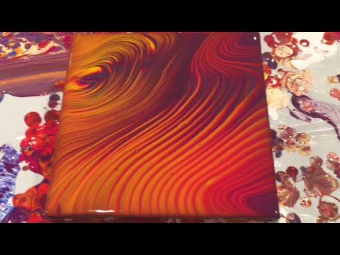 (77) Acrylic Ring Pour with DecoArt Pouring Medium