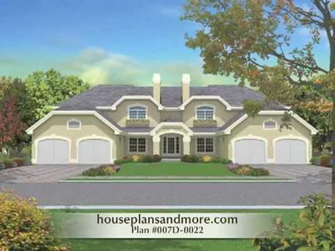 MultiFamily Homes Video 1  House Plans and More  YouTube