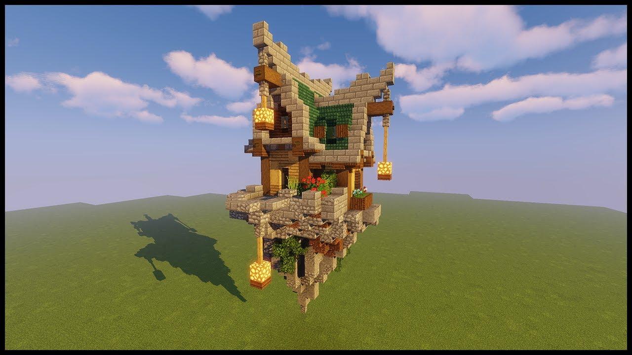 Minecraft Tutorial Sky Island Fantasy House Youtube