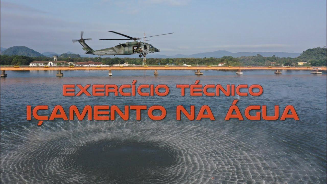 Esquadrões de Busca e Salvamento da Força Aérea Brasileira treinam resgate na água
