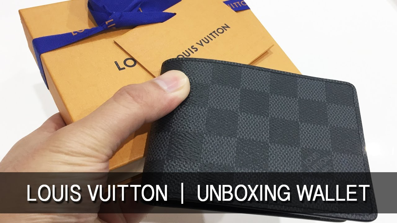 8e132cc72452 Louis Vuitton 2017 Review Mens Slender Wallet Unboxing LV - YouTube