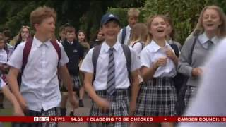 Boys at Exeter academy school wear skirts in uniform protest