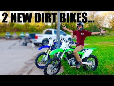 NEW BIKE REVEAL!!! 2 New Dirt Bikes...