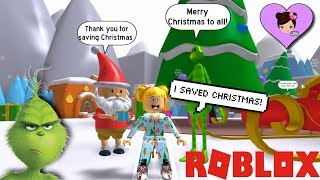 Baby Goldie Saves Christmas! Grinch Movie Roblox OBBY & Bloxburg Roleplay