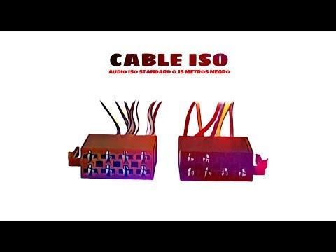 Video de Cable de audio ISO Standard 0.15 M Negro