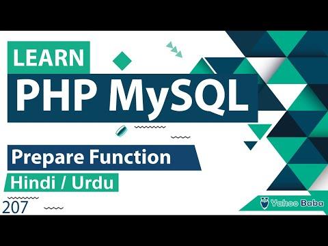 PHP MySQLi Prepare Function Tutorial In Hindi / Urdu