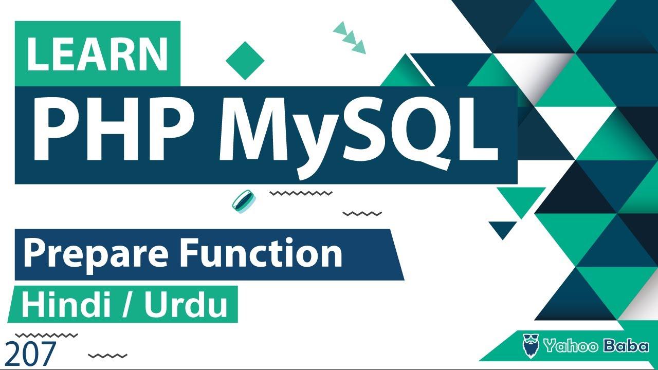 PHP MySQLi Prepare Function Tutorial