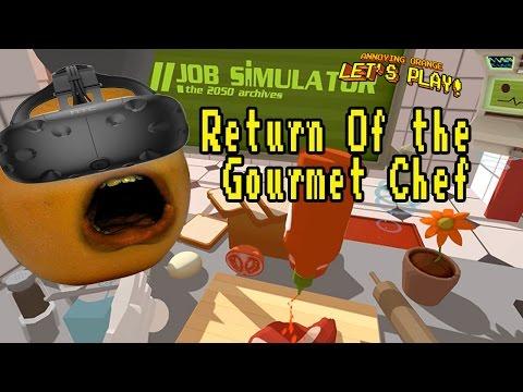 Annoying Orange Plays - Job Simulator #4: RETURN OF GOURMET CHEF!