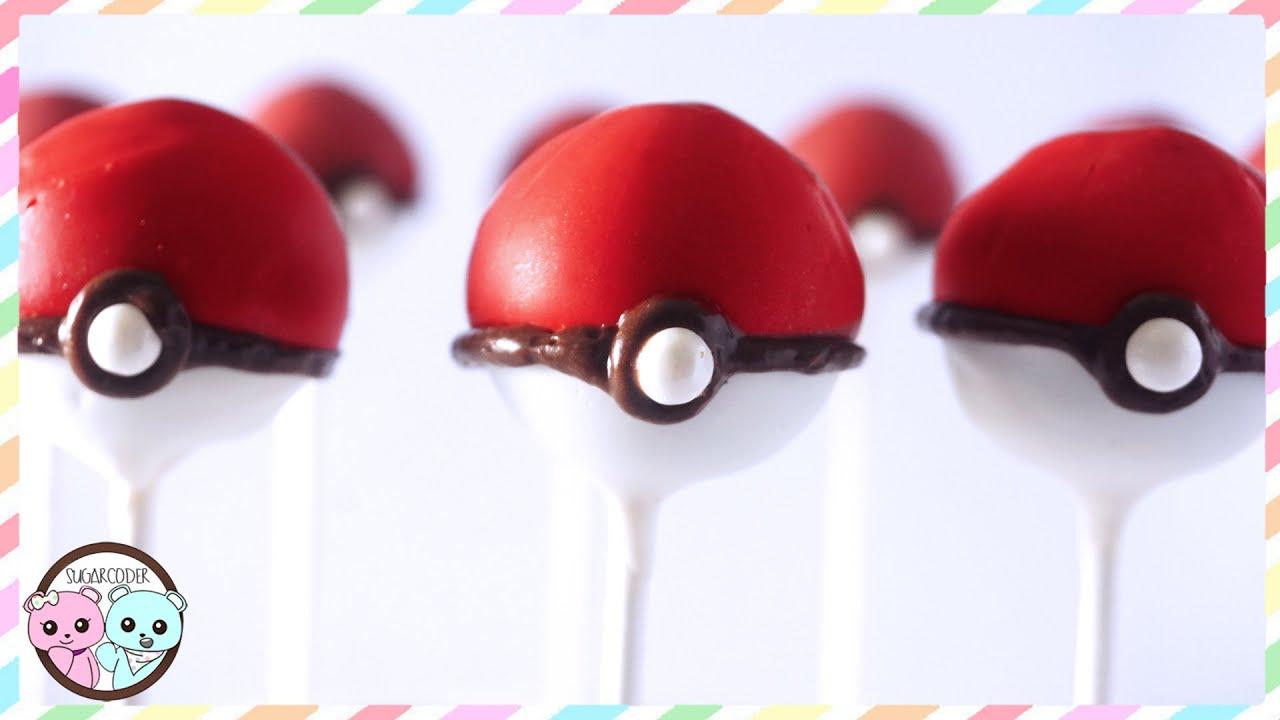 Pokemon Pokeball Cake Pops 🐹 Anime Dessert Ideas Youtube