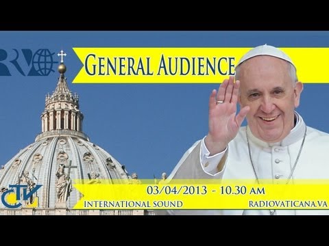 Pope's General Audience 2013-04-03