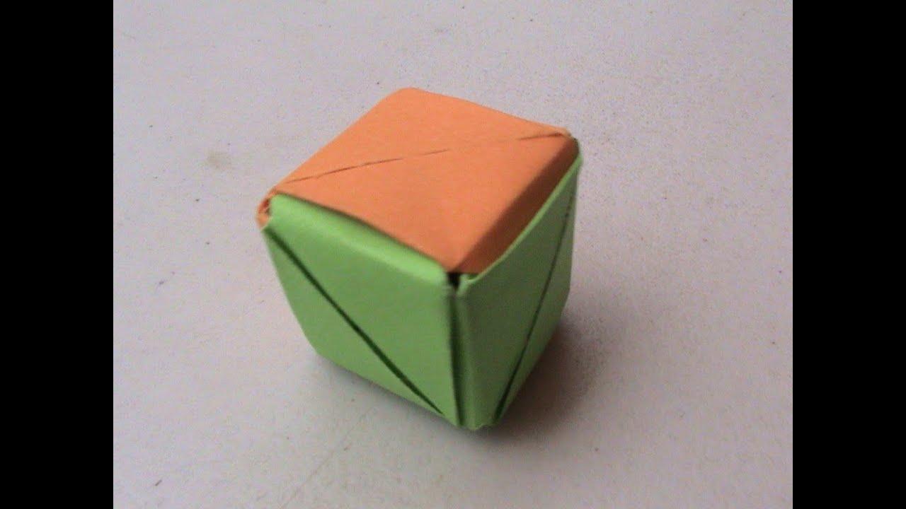 Origami como hacer un cubo con papel youtube - Como hacer jarrones de papel ...