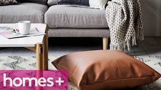 Diy Project: Faux Leather Floor Cushion - Homes+