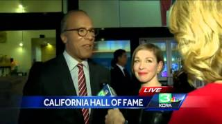 Lester Holt gives NBC radio rejection letter to California Hall of Fame