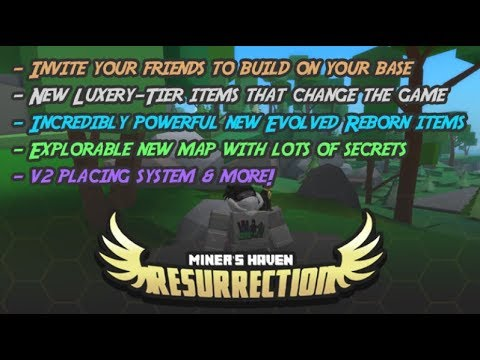 ROBLOX MINER'S HAVEN RESURRECTION ALL NEW/OLD CODES (WORKING)