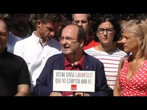 Declaracions de Miquel Iceta a Viladecans